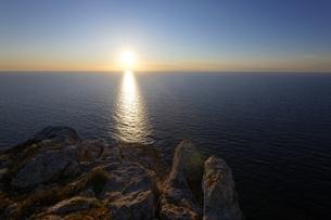 ワルディアの海岸線の夕景の写真素材 [FYI02827183]
