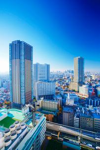 タワー型マンションと新宿方向のビル群の写真素材 [FYI02827524]