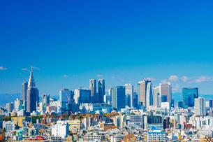 平河町から望む新宿のビル群の写真素材 [FYI02828582]