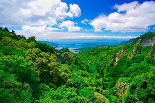 四望頂展望台から望む寒霞渓と内海湾の写真素材 [FYI02828773]