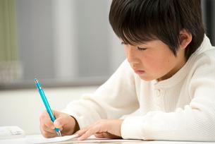 勉強する小学生男子の写真素材 [FYI02828961]