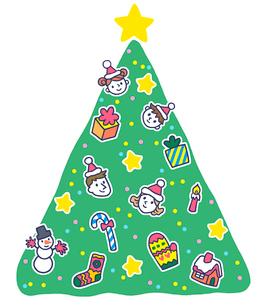 イラスト クリスマスツリーのイラスト素材 [FYI02829552]