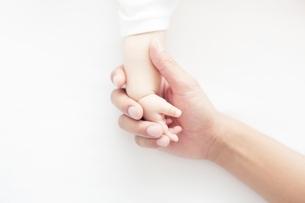 赤ちゃんの手を握る手の写真素材 [FYI02830108]