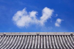 龍顔寺の本堂の屋根の写真素材 [FYI02830640]