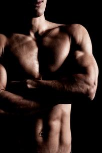 腕組みする男性の上半身の写真素材 [FYI02831262]