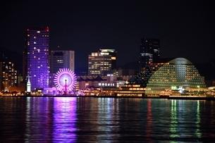 神戸大橋からモザイクの夜景の写真素材 [FYI02831854]