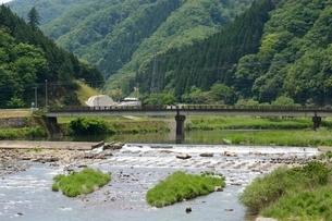 新緑 あゆの里矢田川の写真素材 [FYI02831881]