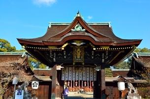 京都 北野天満宮三光門の写真素材 [FYI02832215]