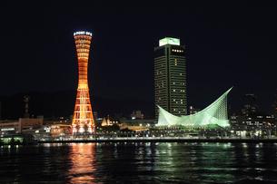 神戸ハーバーランド夜景の写真素材 [FYI02832892]
