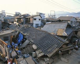 阪神大震災被災地の写真素材 [FYI02832899]
