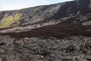 ハワイ島 キラウエア火山のホーレイパリの写真素材 [FYI02833008]