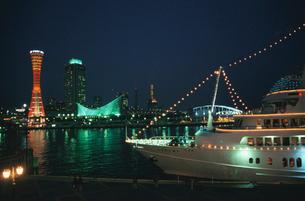 神戸バーバーランドの夜景の写真素材 [FYI02833054]