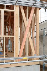 木造住宅の新築工事の写真素材 [FYI02833066]
