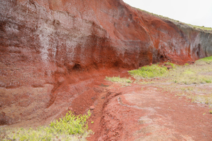 ハワイ島のハワイ火山国立公園 カフクユニット のスコリアの写真素材 [FYI02833067]