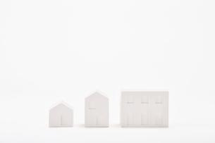 白い建物のオブジェ クラフトの写真素材 [FYI02833229]