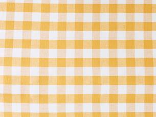 黄色と白のチェックの布の写真素材 [FYI02833579]