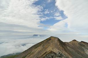 乗鞍岳山頂から見る景色の写真素材 [FYI02833653]