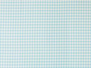 水色のチェックの布の写真素材 [FYI02833705]
