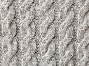 グレーのウールの布の写真素材 [FYI02833709]