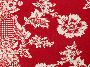 赤と白の花がらの布の写真素材 [FYI02833978]