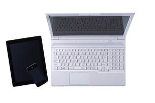 タブレットPCとスマートフォンとノートパソコンの写真素材 [FYI02834108]