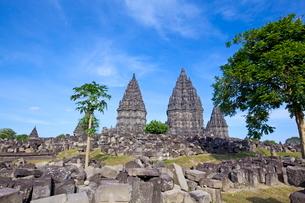 インドネシア ジャワ島 プランバナン寺院史跡公園の写真素材 [FYI02834825]