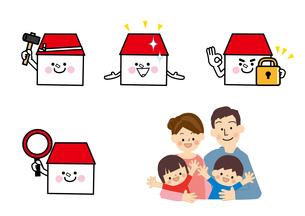 家と家族 リフォームのイラスト素材 [FYI02834913]