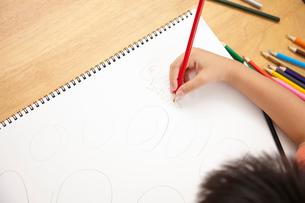 お絵かきをする子供の写真素材 [FYI02834949]
