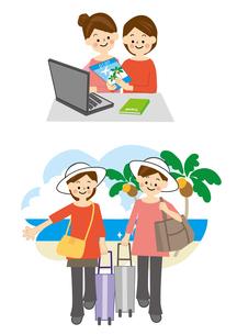 海外旅行する女性のイラスト素材 [FYI02834968]