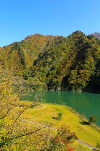 秋の加治川治水ダム公園の写真素材 [FYI02834974]
