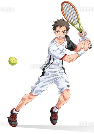 テニス少年その2のイラスト素材 [FYI02835352]