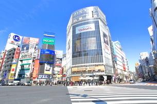 渋谷駅前スクランブル交差点の写真素材 [FYI02835380]