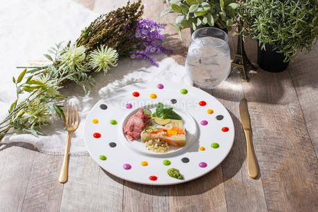 彩り野菜のテリーヌの写真素材 [FYI02835541]