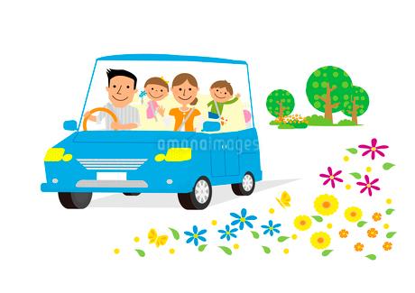 家族のドライブのイラスト素材 [FYI02835695]