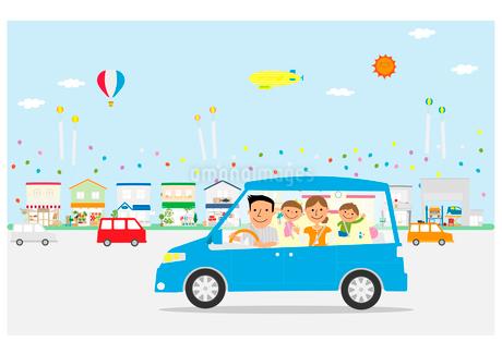 家族のドライブのイラスト素材 [FYI02835722]