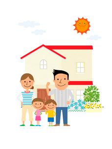 住宅と家族のイラスト素材 [FYI02835729]