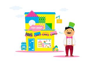 おもちゃ屋のイラスト素材 [FYI02835772]