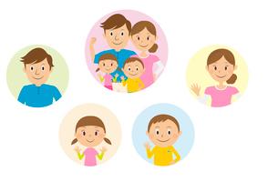 家族のイラスト素材 [FYI02835781]