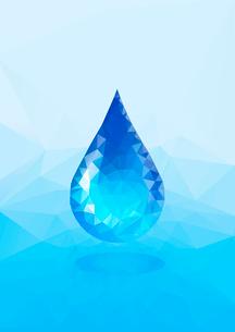 水イメージ 水滴 ポリゴン風のイラスト素材 [FYI02835838]