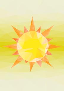 太陽 ポリゴン風のイラスト素材 [FYI02835860]
