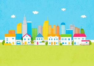 住宅と街イメージのイラスト素材 [FYI02835862]