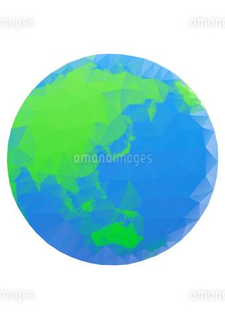 エコイメージ 地球 ポリゴン風のイラスト素材 [FYI02835914]