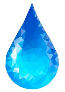 水イメージ 水滴 ポリゴン風のイラスト素材 [FYI02835922]