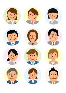 働く人々  ビジネス集団のイラスト素材 [FYI02836012]