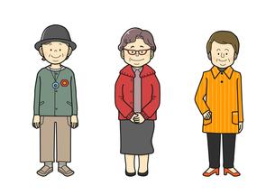 中年の女性、眼鏡をかけた女性、おばあさんのイラスト素材 [FYI02836087]