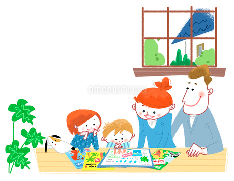 家族会議のイラスト素材 [FYI02836177]