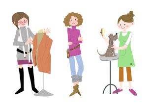 いろいろな職業 服飾デザイナー スタイリスト トリマーのイラスト素材 [FYI02836202]