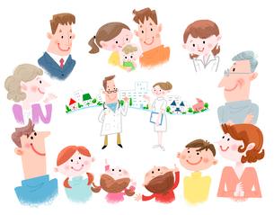 みんなの健康,みんなの医療のイラスト素材 [FYI02836220]