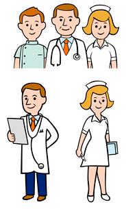 医師と看護師のイラスト素材 [FYI02836232]