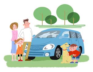 ドライブの家族のイラスト素材 [FYI02836245]
